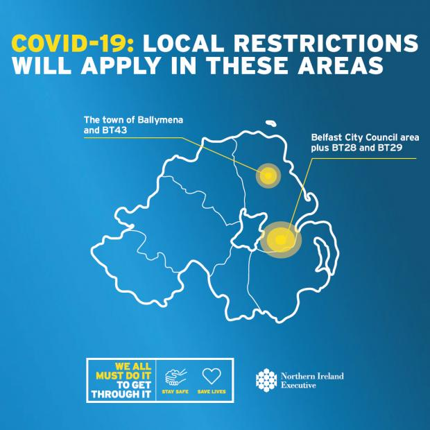 Localised restrictions map