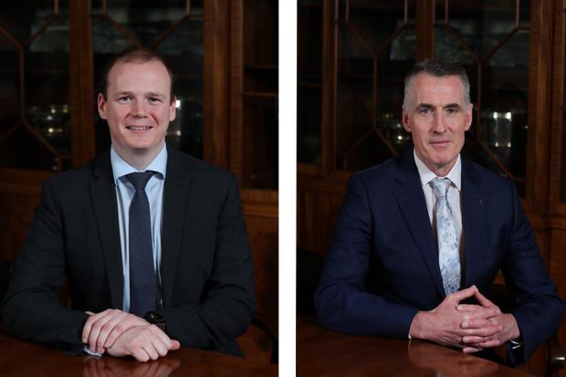 Junior Minister Gordon Lyons and Junior Minister Declan Kearney