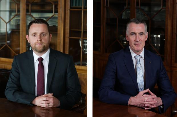 Junior Minister Gary Middleton and Junior Minister Declan Kearney