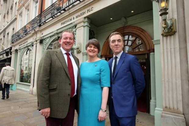 First Minister Arlene Foster pictured at Taste of Northern Ireland celebration at Fortnum and Mason