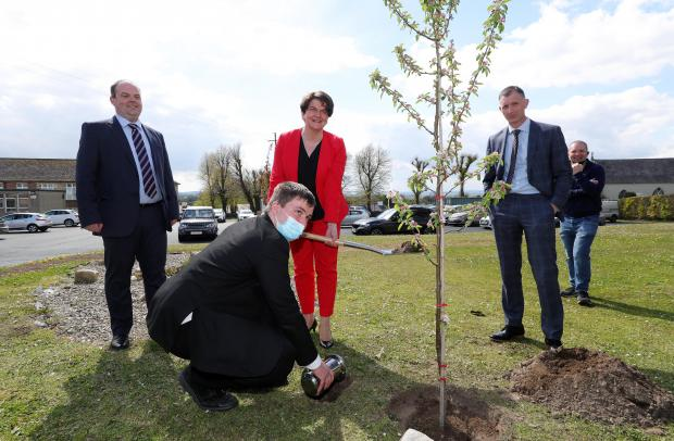 First Minister Arlene Foster visits Rathfriland High School