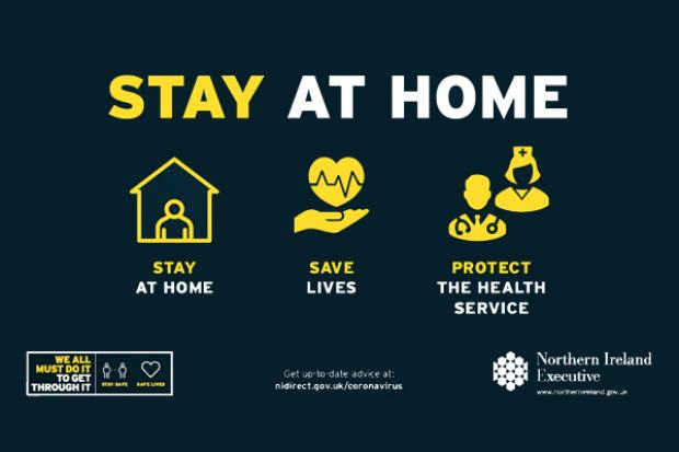 Stay at Home - Covid-19 graphic
