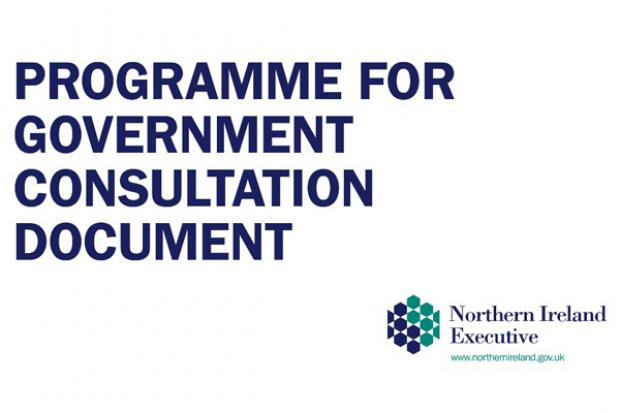Programme for Government Consulation document cover