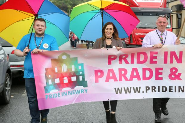 Junior Minister pictured at Newry Pride