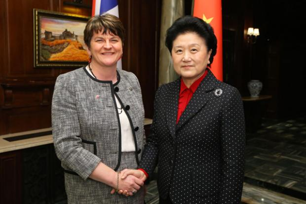 First Minister met with theÊChinese Vice Premier, Madam Liu Yangdong in Shanghai at the start of the UK-China People to People summit.