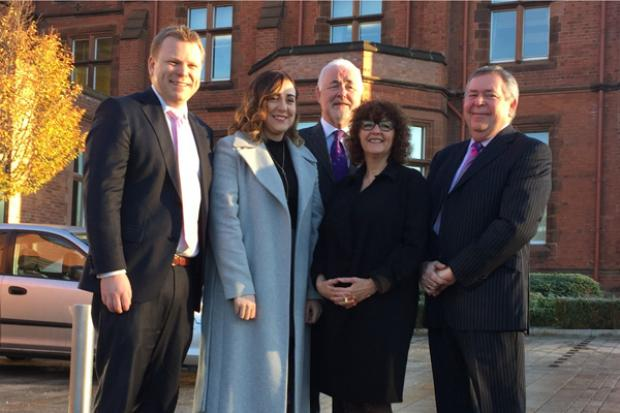 Junior Ministers, Alastair Ross and Megan Fearon pictured at a meeting of the Chartered Institute of Public Finance and Accountancy