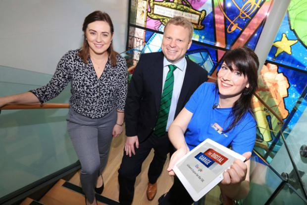 Junior Ministers Megan Fearon and Alastair Ross pictured at the Google Digital Garage event