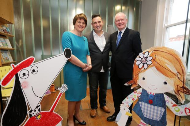 Pictured with the Ministers is Colin Williams, Founder and Creative Director of Sixteen South