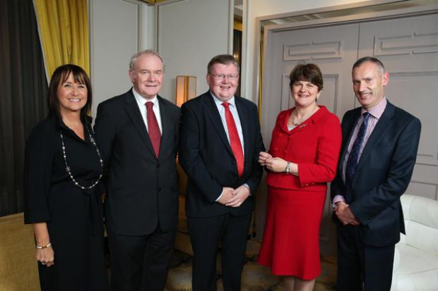 The First Minister and deputy First Minister at the Northern Ireland Chamber of Commerce and Industry event