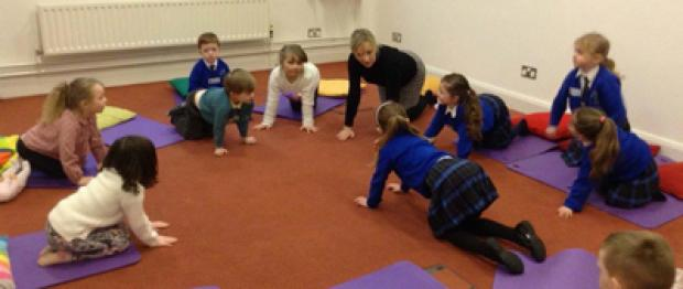 Picture of children participating in Toddler Yoga