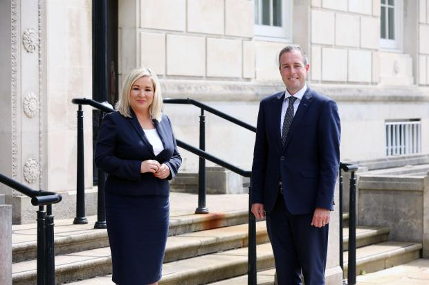 First Minister Paul Givan and deputy First Minister Michelle O'Neill