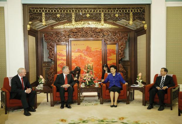 Robinson and McGuinness meet Madam Liu Yandong Vice Premier of  China