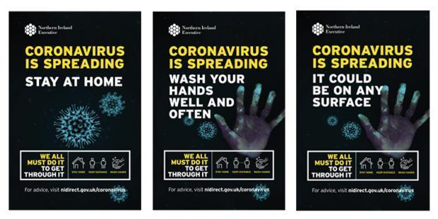 Covid-19 advertising campaign literature