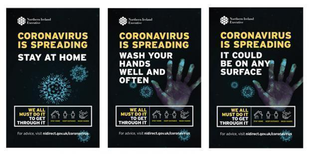 Covid-19 advertising campaign literature